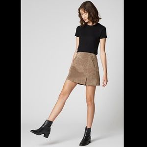 NWT Blank NYC Suede French Taupe Mini Skirt 25